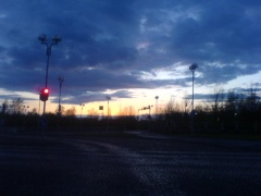 Oulu, at early hours of the morning