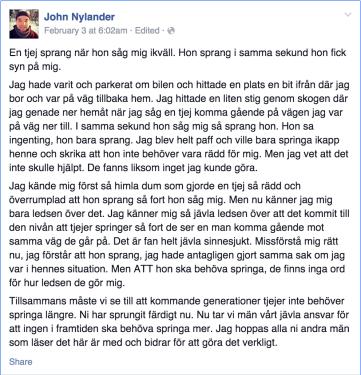 John Nylander Facebook Rant
