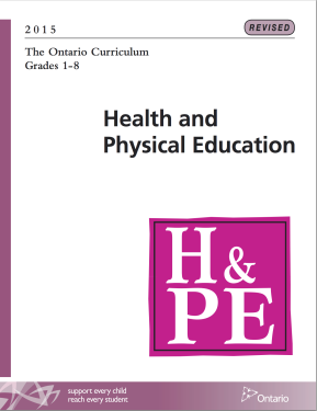 The Ontario Curriculum Grade 1-8: Health and Physical Education (2015)